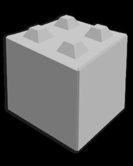 Megablok 80x80x80cm